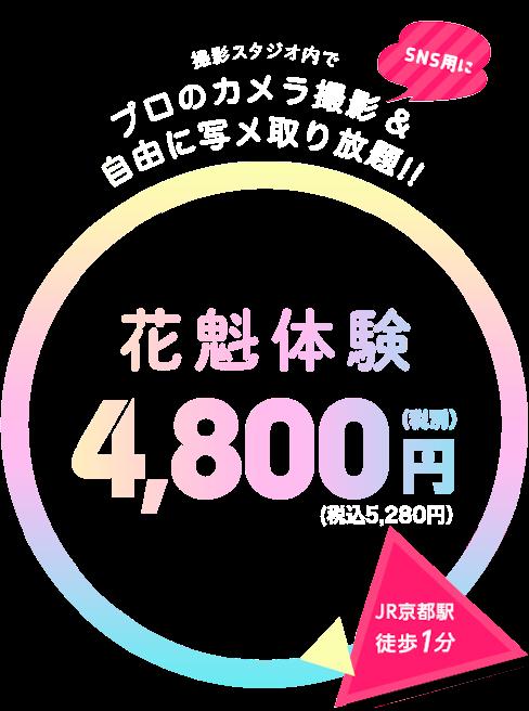 花魁体験4,800円(税別)
