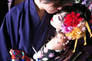 花魁写真(カップルプラン・小紫(こむらさき))