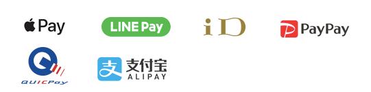 applePay LINEPay iD PayPay QUICPay ALIPAY