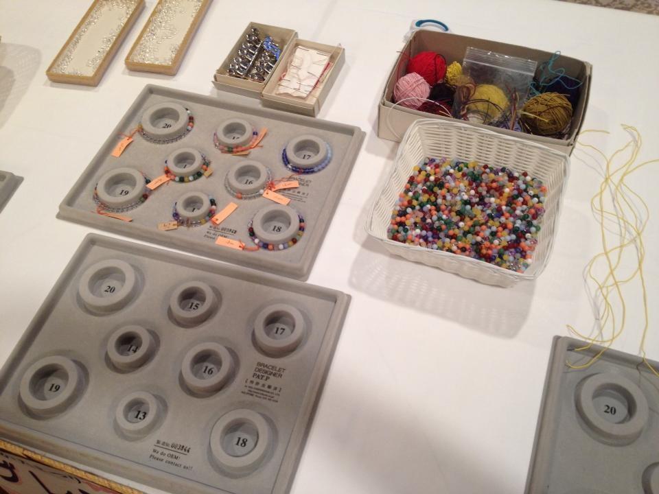 京都でできる珠数ブレスレット制作体験